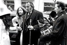 Yoko Ono, John Lennon and Salvador Dali
