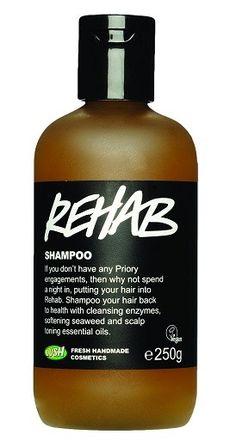 Rehab: Tror den dyprenser, sterk lukt, ikke helt perfekt for mitt hår, men bra shampoo.