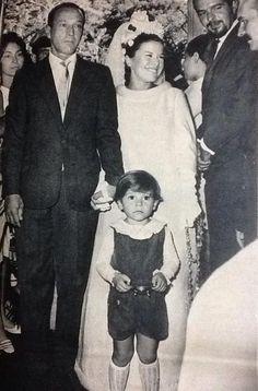 Elis Regina no seu casamento com Ronaldo Bôscoli.