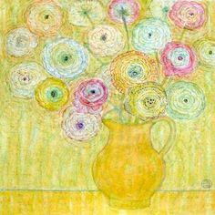 'Ranunculus' by Leonard McComb Art Lessons, Watercolor Art, Free Art, Amazing Art, Flower Art, Floral Art, Art Gift, Painting Inspiration, Art