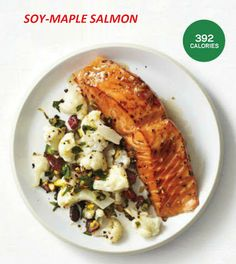 SOY-MAPLE SALMON- Healthy Fish Recipe (392 Calories) ~ How to Lose Weight Fast