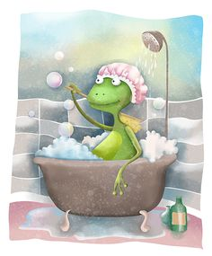 Frog In The Bath
