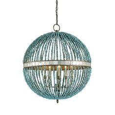 Currey & Company 9763 5 Light Alberto Orb Chandelier Large Pendant