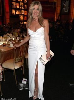 Confident: Jennifer Aniston attends the 40th AFI Life Achievement Awards in Los Angeles on June 7