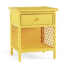 Serena & Lily Marley Side Table (405 AUD) ❤ liked on Polyvore featuring home, furniture, tables, accent tables, side table, yellow, woven furniture, yellow furniture, yellow side table and rattan furniture