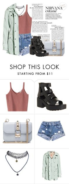 """Без названия #59"" by darina-kozlova ❤ liked on Polyvore featuring Vagabond, Valentino, Wet Seal and Burberry"