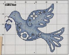 Dove Free Cross Stitch Pattern Chart