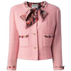 CHANEL VINTAGE boucle jacket and skirt suit (€3.070) found on Polyvore