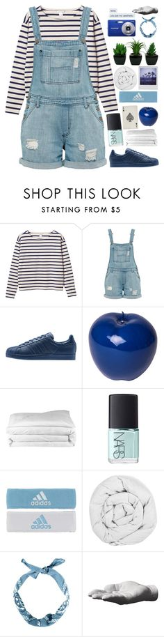 """☾☾; sara"" by bvck-spvce ❤ liked on Polyvore featuring Monki, Bitossi, Frette, NARS Cosmetics, adidas, The Fine Bedding Company, Polaroid, Fujifilm and Harry Allen"