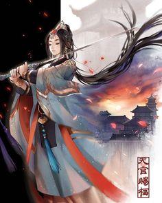 I love asian art and culture I want to collect everything I like! Chinese Picture, Chinese Artwork, Chinese Drawings, Umibe No Onnanoko, Manga Art, Anime Art, Beautiful Fantasy Art, Beautiful Cover, Hinata Hyuga