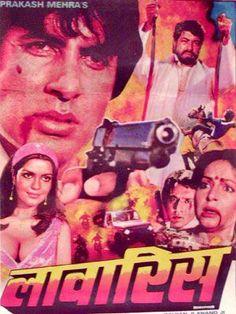 "Laawaris (1981) This Amitabh Bachchan Zeenat Aman and Amjad Khan starer wasw directed by Prakash Mehra. Music by Kalyanji Anandji had great songs like ""Jiska Koi Nahin"" , ""Kab Ke Bichhde Hue""  , Kahe Paise Pe"" , ""Apni To Jaise Taise"" , ""Jiska Koi Nahin""  and the awesome ""Mere Angne Mein"", sung by Amitabh himself."