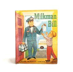 Milkman Bill  Vintage Children's Book  Rand by SunshineBooks