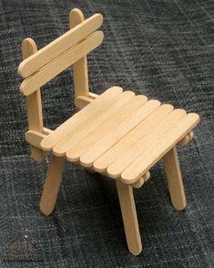 dil çubuklarından sandalye | Evimin Altın Topu