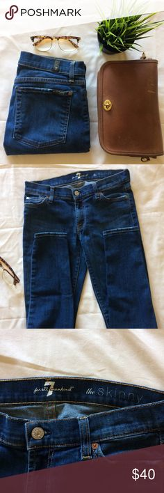 """7 Jeans • """"The Skinny"""" authentic 7 for All Mankind Jeans • size 27 • great condition • ready to wear! • reasonable offers welcome 7 For All Mankind Jeans Skinny"""