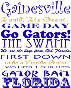 Florida Gators Subway Print 8 x 10 by framedletterart on Etsy, $15.00