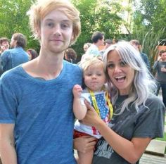 Lou Teasdale with Tom and Lux Atkin