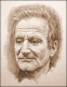 Robin Williams, 16x20 Original Pencil Drawing