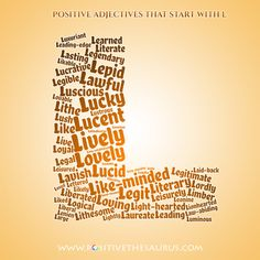 Adjectives With Letter B.50 Best Positive Adjectives Positive Descriptive Words