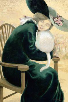 Woman in Green by Sandra Bierman