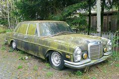 An eco-friendly Merc! Old Mercedes, Mercedes Benz 300, Classic Mercedes, Junkyard Cars, Merc Benz, Rusty Cars, Old Classic Cars, Abandoned Cars, Old Cars