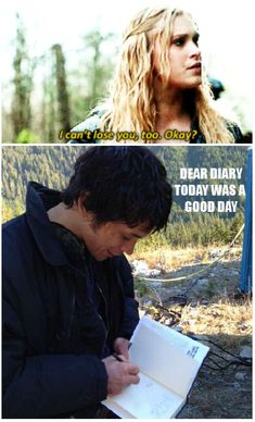 Dear Diary || Bellamy Blake and Clarke Griffin || tumblr - sassandsassagain || Eliza Jane Taylor and Bob Morley || The 100 || Bellarke