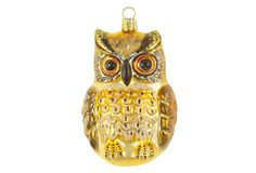 "5"" Owl Ornament, Gold $29.00"