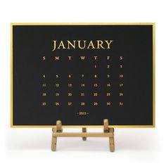 2015 Classic Desk Calendar, Black