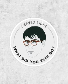 "Rushmore Sticker - Max Fischer ""I Saved Latin"" jason schwartzman, wes anderson, bill murray on Etsy, £2.50"