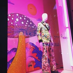 """BARNEY'S NY, Beverly Hills, Los Angeles, California, """"The Future is your Presence"""", (Haas Rules), for Gucci, photo by Kolbs, pinned by Ton van der Veer"""
