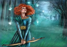 Merida, Brave. Disney Illustration Merida by MarySteinlen.deviantart.com on @DeviantArt