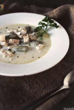 Creamy Pesto Chicken Soup with Spinach Gnocchi with Pesto Toast