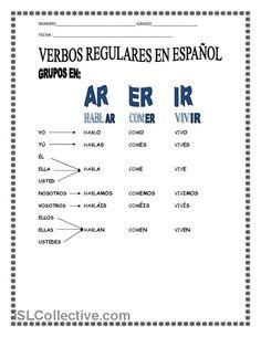 LOS VERBOS trabajos - Hojas de trabajo de ELE gratuitas