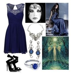 """Nyx (Goddess of Night and Hellhounds)"" by lilacmayn ❤ liked on Polyvore featuring NYX, Giuseppe Zanotti, Gaia, Carolyn Pollack/Relios and Blue Nile"