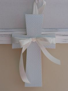 Baptism decoration idea, cutout different sizes and put in candles and hanging