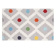 Pottery Barn Kids $699 8 x 10 http://www.potterybarnkids.com/products/multi-dot-rug/?pkey=call-rugs&