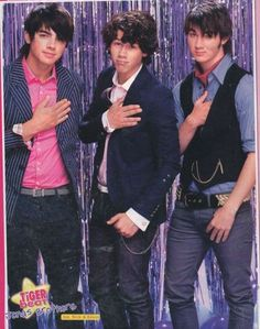 """Jonas Brothers...Lol, why does this picture remind me of """"The Wedding Singer""""?"""