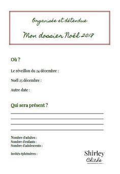 Bien préparer Noël zen, organisée et détendue, planning de Noël, free printable, offert shirley chiche