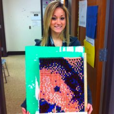 Student finally finished her project. We need to get it framed and wa-la... A masterpiece, I am so impressed!