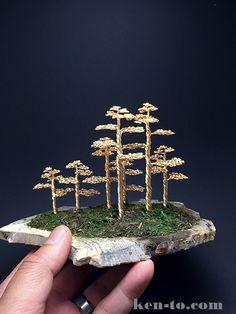Wire bonsai tree forest by Ken To by KenToArt on DeviantArt