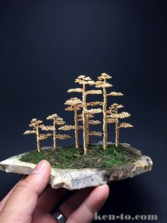 Wire bonsai tree forest by Ken To by KenToArt on DeviantArt