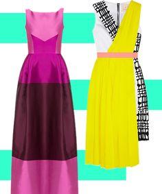 5 Pretty Bridesmaid Dress Pairings #refinery29  http://www.refinery29.com/bridesmaid-dresses