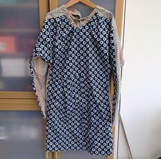 MARNI FOR H BLUE CIRCLES COTTON DRESS (SIZE UK10) | eBay