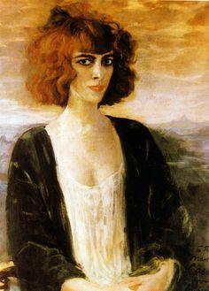 'Marchesa Luisa Casati' - 1919 - by Augustus Edwin John wearing fortuny