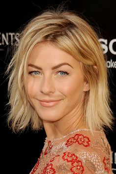 If shoulder-length hair is more your style, thin out a bob with razor-cut ends — Julianne Hough's cut is ideal — to downplay your hair's heaviness.
