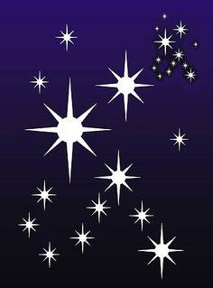 Star Stencils Large Stars Cluster Stencil