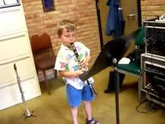 5 year old clarinet player