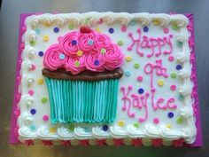 We will give you various cake design ideas for your reference Cake Icing, Buttercream Cake, Eat Cake, Cupcakes, Cupcake Cakes, Cake Decorating Tips, Cookie Decorating, Gateau Iga, Sheet Cakes Decorated
