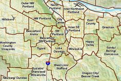 neighborhood map of portland oregon | ... Portland - Oregon and its Neighborhoods | Portland Oregon Real Estate