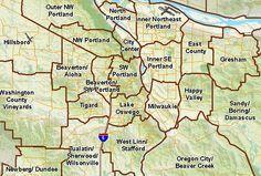 neighborhood map of portland oregon | ... Portland - Oregon and its Neighborhoods | Portland Oregon Real Estate