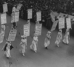 NYC Women Sufferage Parade (May 6th, 1912).  Women were not granted the right to vote until the passage of the 19th Amendment to the U.S. Constitution in 1920.
